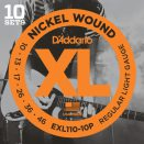 D'Addario - Nickel Wound EXL110-10P 10-Pack Regular Light 010-046