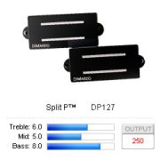 DiMarzio Bass - DP127 - Split P