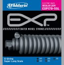 D'Addario - EXP Coated Nickel Round Wound EXP170-5SL 5-str�ngad Regular Light 045-130