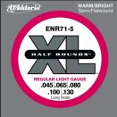D'Addario - Nickel Half Rounds ENR71-5 5-Str�ngad Regular Light 045-130