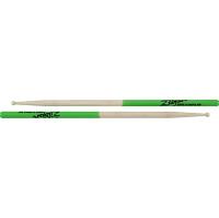 Zildjian Super 7A Green Dip Maple Drumsticks Wood Tip