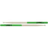 Zildjian 5B Green Dip Maple Drumsticks Wood Tip
