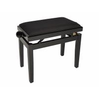 Boston Piano Bench Gloss Black/Black Velvet Seat