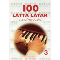 100 Lätta låtar piano/keyboard 3
